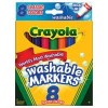 MARKERS CRAYOLA BROAD WASH PK8 587808