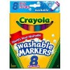 MARKERS CRAYOLA ULTRA CLEAN WASHABLE PK8