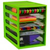 DRAWERS DESKTOP- 3 SMALL 1 LGE LIME