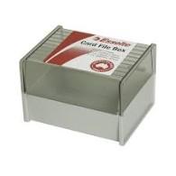 SYSTEM CARD BOX ESSELTE 8x5 136270 CHARC